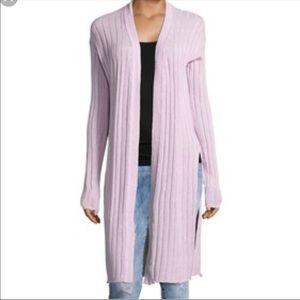 Free people lavender ribbed cardigan